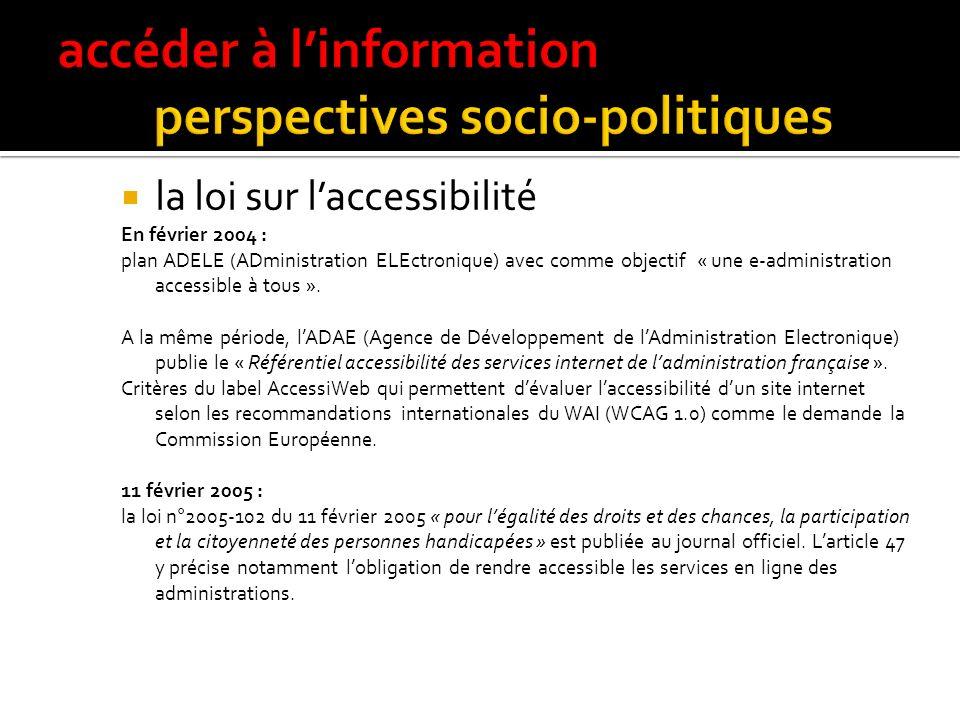 prise de conscience des pouvoirs publics en France Circulaire du 12/10/99 (JO N° 237 p. 15167) relative aux sites Internet des services publics de lét