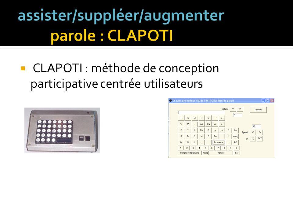 deux modes de saisie : clavier standard clavier virtuel (troubles de la parole + troubles moteurs)