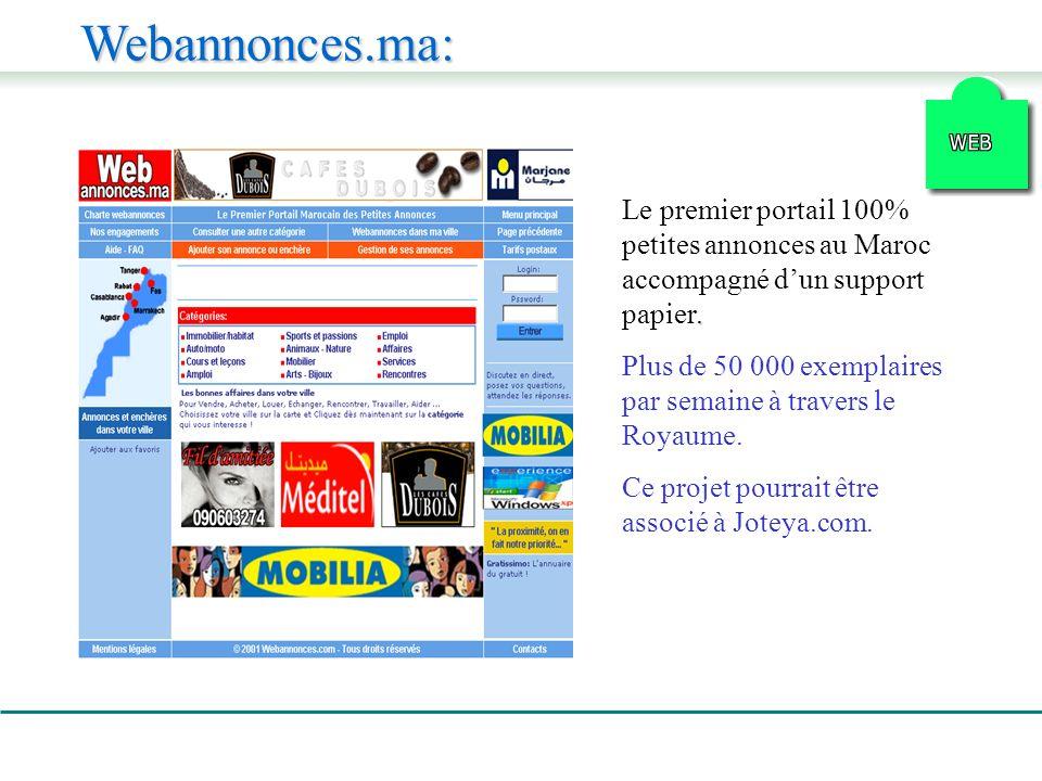 Webannonces.ma:. Le premier portail 100% petites annonces au Maroc accompagné dun support papier.