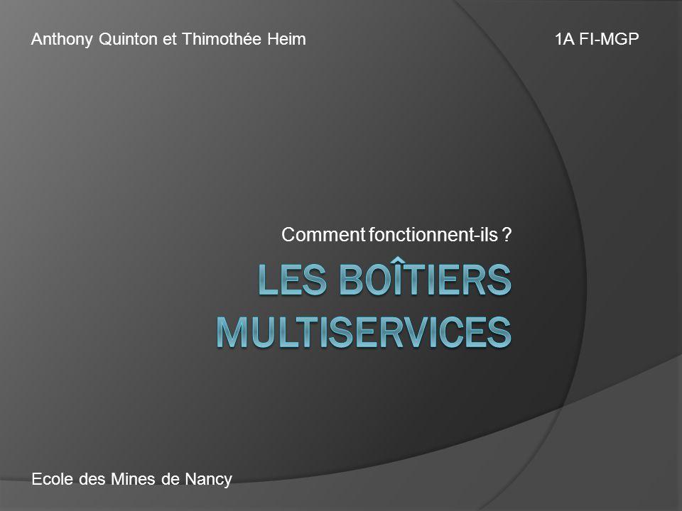 Comment fonctionnent-ils ? Anthony Quinton et Thimothée Heim1A FI-MGP Ecole des Mines de Nancy