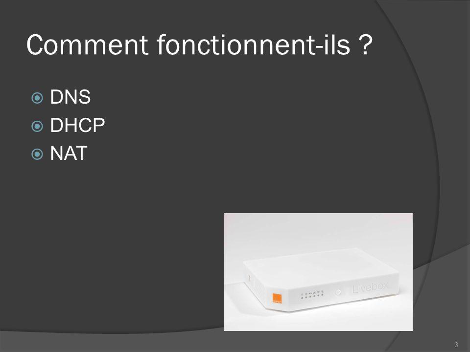 Comment fonctionnent-ils ? DNS DHCP NAT 3