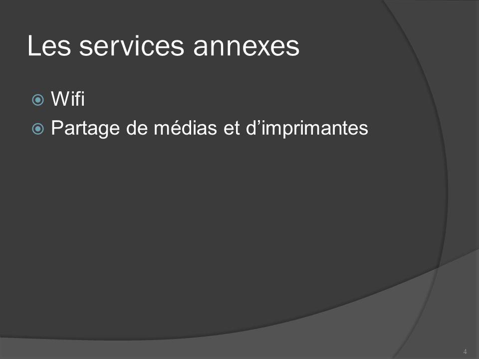 Les services annexes Wifi Partage de médias et dimprimantes 4