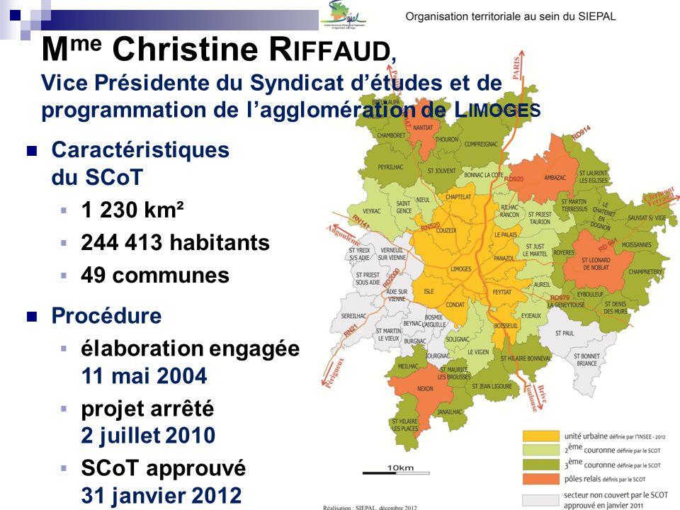 Caractéristiques du SCoT 1 230 km² 244 413 habitants 49 communes Procédure élaboration engagée 11 mai 2004 projet arrêté 2 juillet 2010 SCoT approuvé