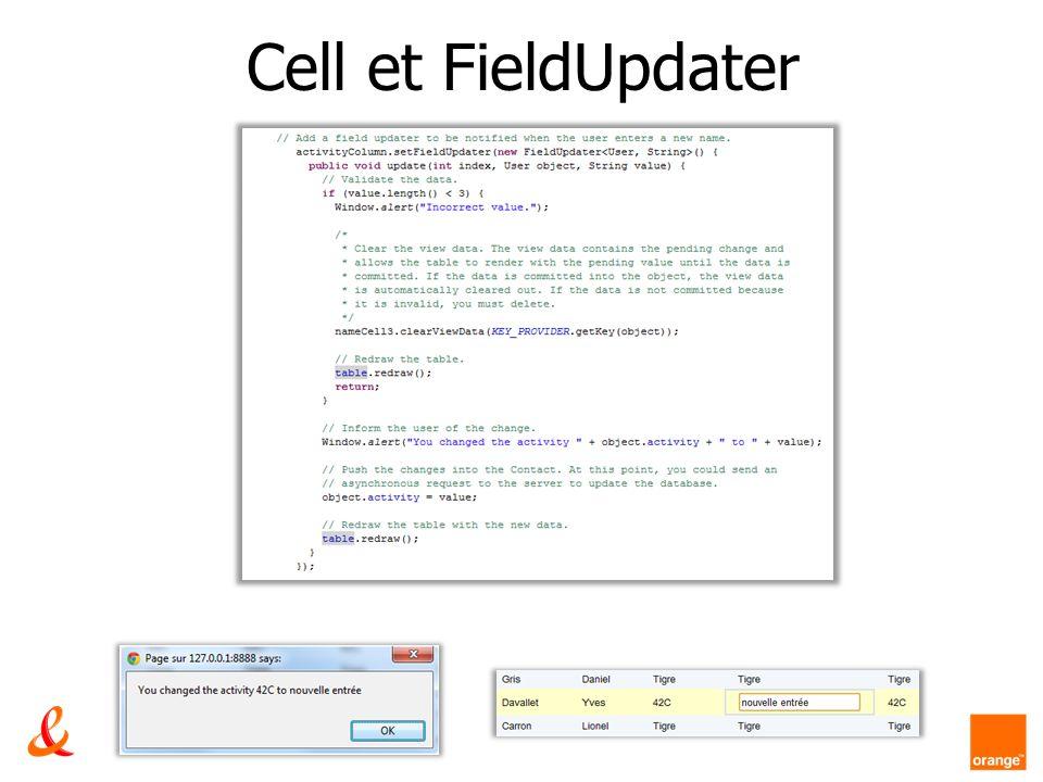 Cell et FieldUpdater