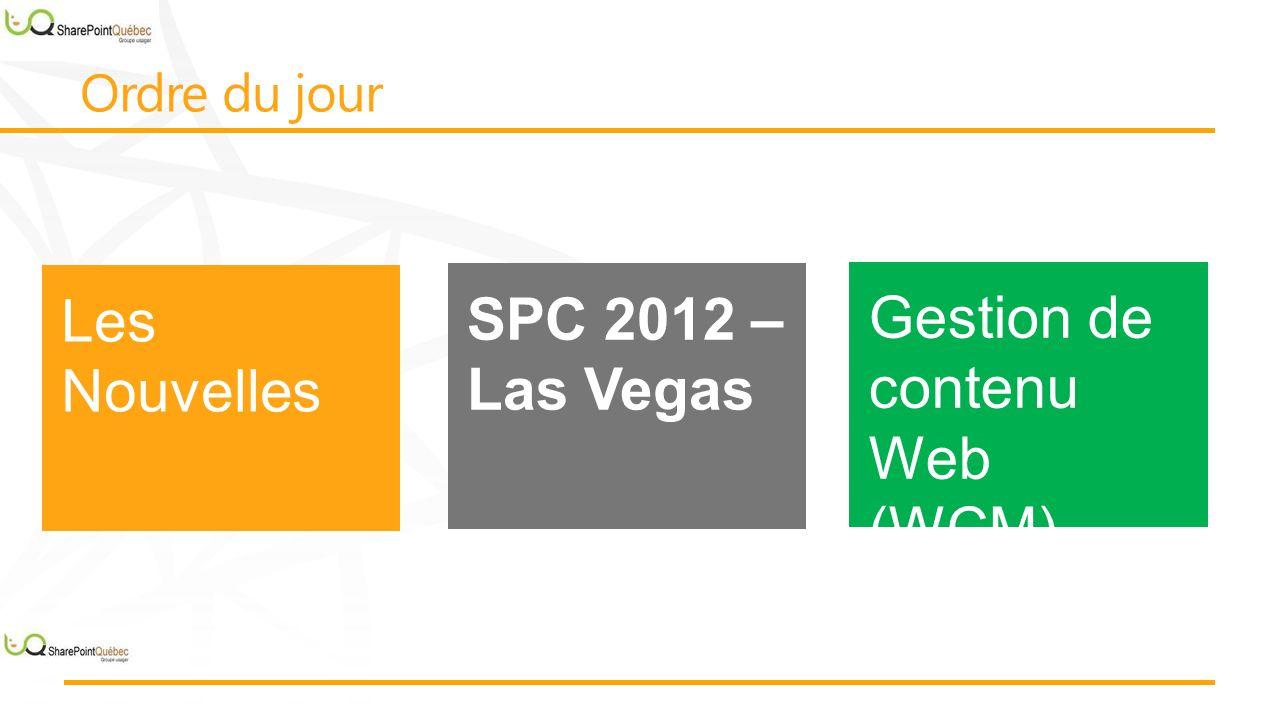 Améliorations Gestion de contenu Web