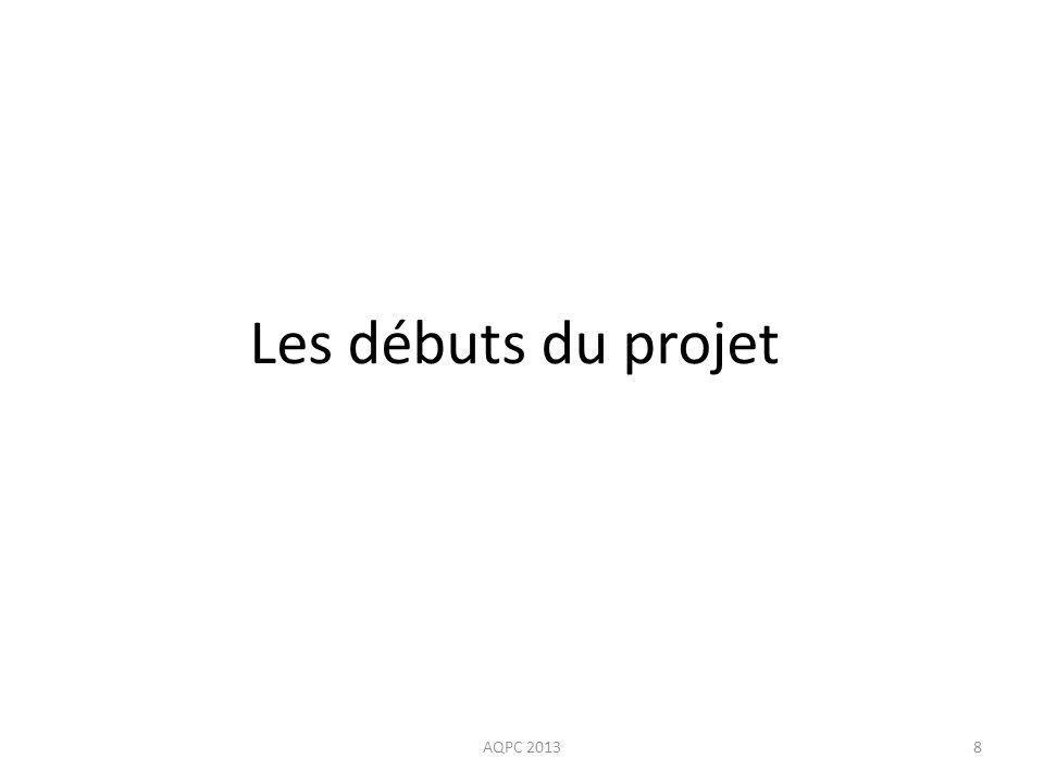 Les débuts du projet AQPC 20138
