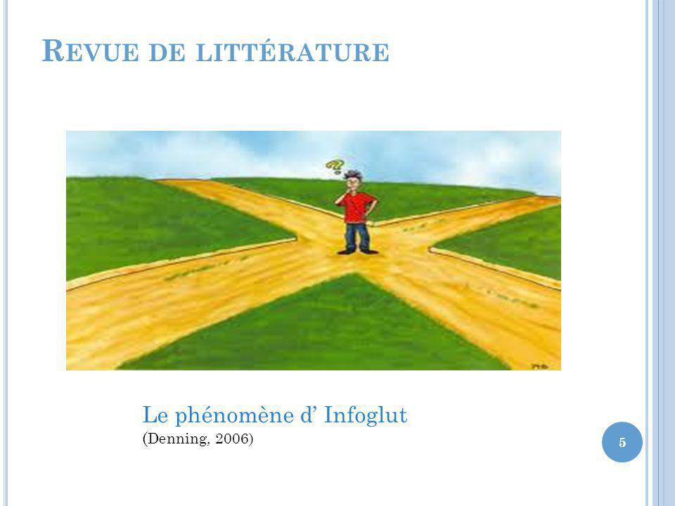 R EVUE DE LITTÉRATURE Le phénomène d Infoglut ( Denning, 2006) 5