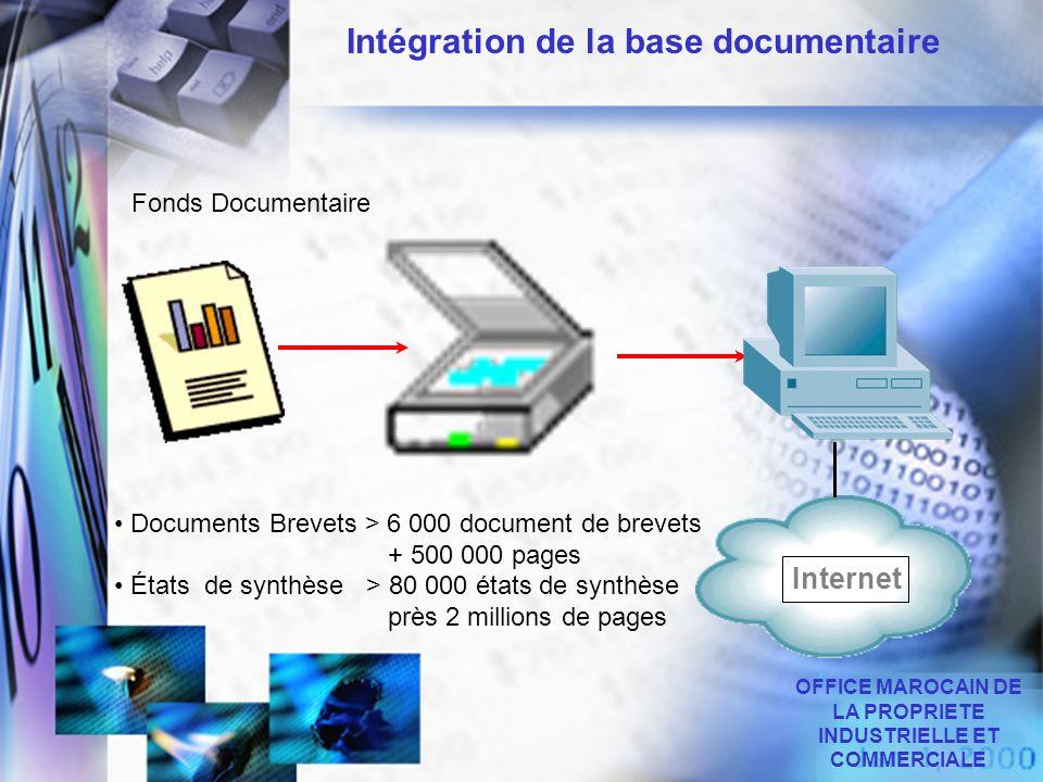 Intégration de la base documentaire Documents Brevets > 6 000 document de brevets + 500 000 pages États de synthèse > 80 000 états de synthèse près 2