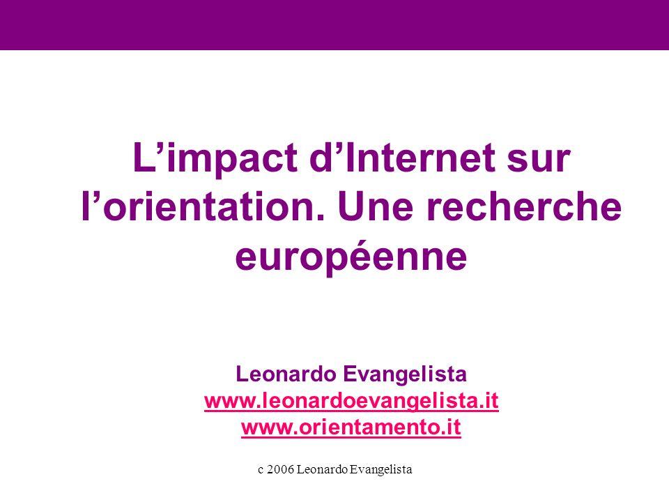 c 2006 Leonardo Evangelista Limpact dInternet sur lorientation.