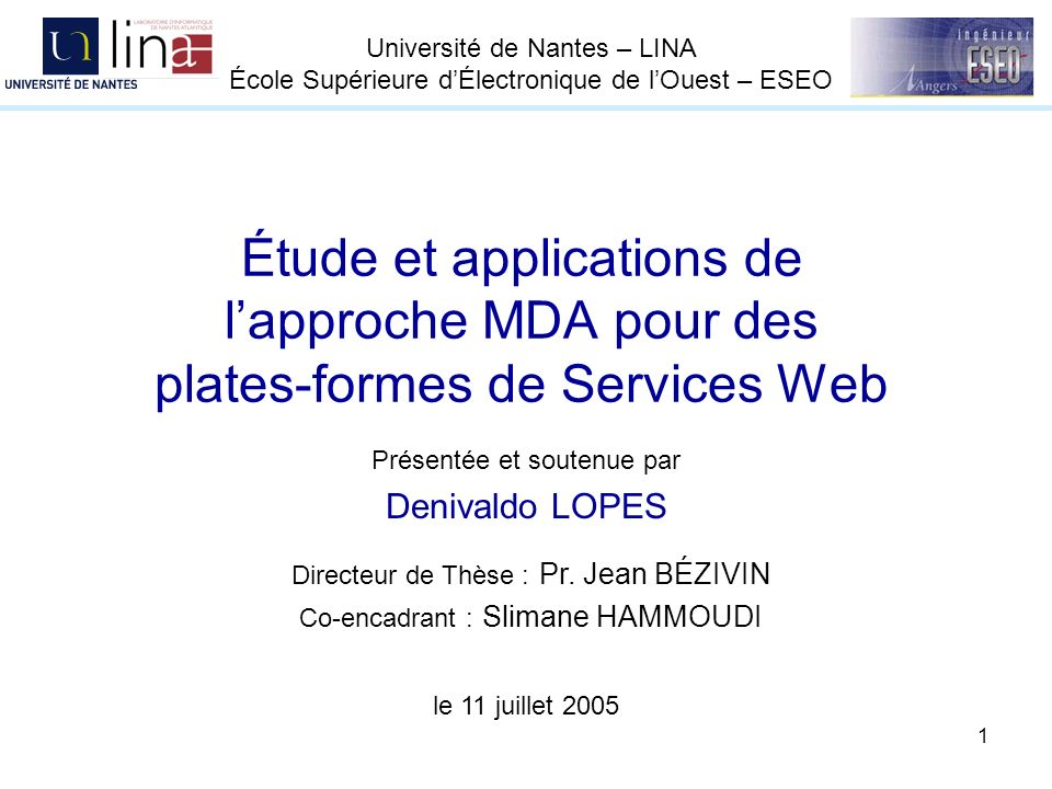 42 EDOC vers Services Web - Spécification de correspondances … module EDOC2WSDL; create OUT : WSDL from IN : EDOC; rule Pc2S{ from pc : EDOC!ProcessComponent to sv: WSDL!Service( name <- pc.name, owner <- pc.namespace, port select(e|e.oclIsKindOf(EDOC!ProtocolPort)) ) } module EDOCprof2WSDL; create OUT : WSDL from IN : UML -- helpers helper context UML!Class def: getEDOCProtocolPort(): Sequence(UML!Class) = UML!AssociationEnd.allInstances()->select(e|e.participant=self)-> collect(x|x.association)->first().connection-> select(y|y.participant <> self)-> select(z | z.participant.hasStereotype( ProtocolPort ) and z.participant.inheritInterface())-> collect(e|e.participant); rule Pc2S{ from c : UML!Class (c.hasStereotype( ProcessComponent ) and c.hasAssocResponds()) to s : WSDL!Service( name <- c.name, owner <- c.namespace, port <- c.getEDOCProtocolPort() *** ) }*** profil UML pour EDOC vers WSDL Instructions: allInstances = 1 select = 3 collect = 2 first =1 Total = 7 Métamodèle EDOC-CCA vers WSDL Instructions: select = 1 oclIsKindOf = 1 Total = 2