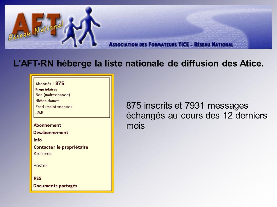 L AFT-RN héberge la liste nationale de diffusion des Atice.