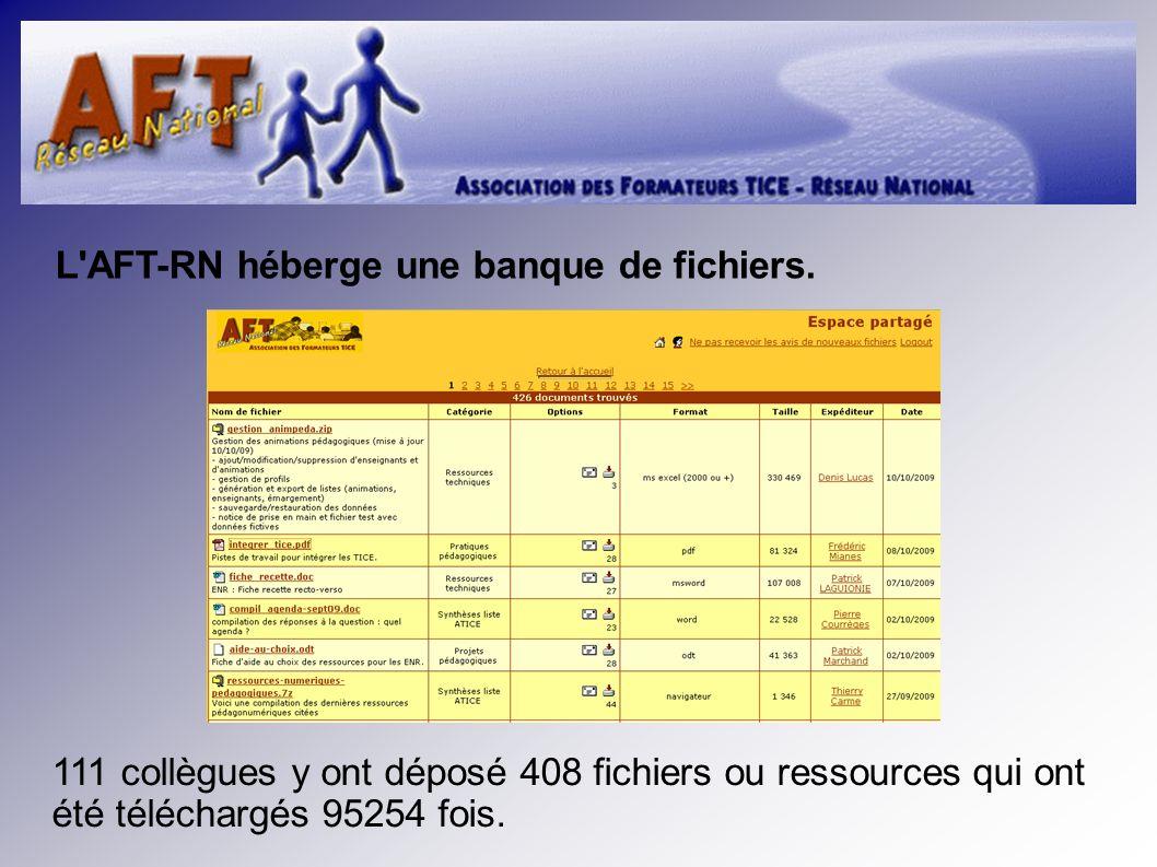 L AFT-RN héberge une banque de fichiers.