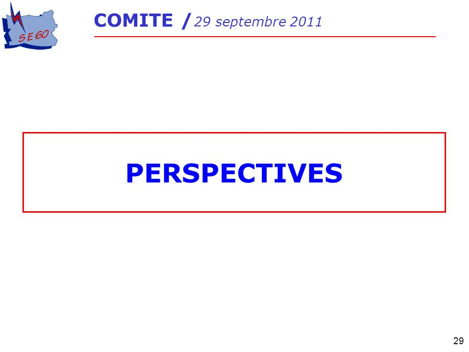 29 PERSPECTIVES COMITE / 29 septembre 2011