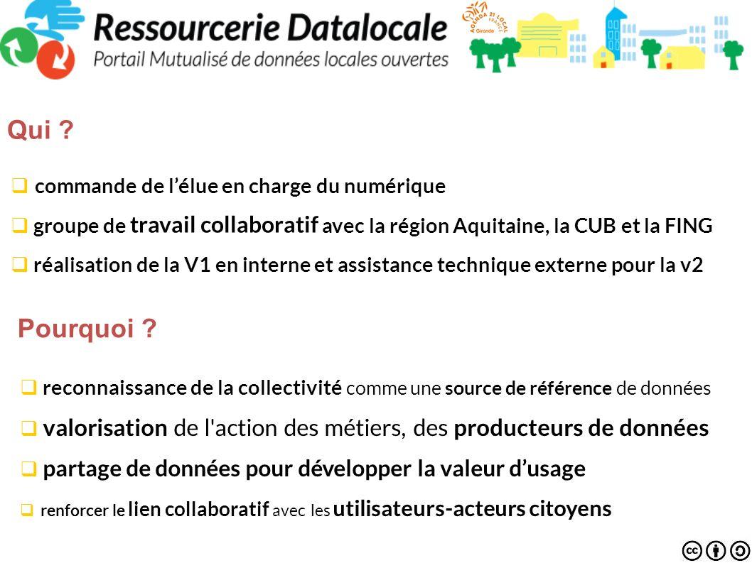 commande de lélue en charge du numérique groupe de travail collaboratif avec la région Aquitaine, la CUB et la FING réalisation de la V1 en interne et