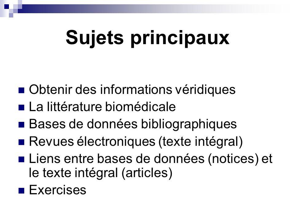 But de la recherche Obtenir des informations pertinentes de façon efficiente Tout lessentiel - sans linutile