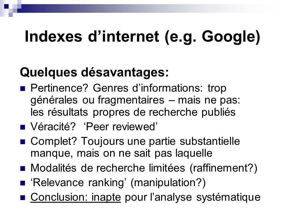 Partie 3: disponibilité des documents intégrals.Digital, sur linternet.