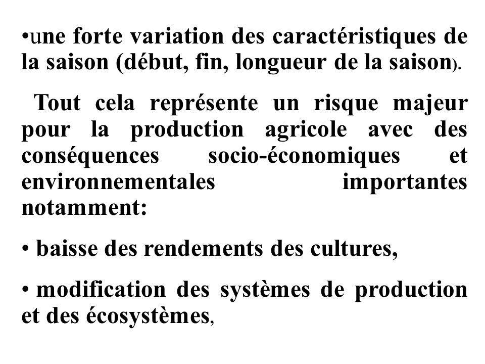 IV-Résultats Les avantages socio-économiques de lapplication des informations et avis agrométéorologiques dépendent en grande partie de la qualité de linformation élaborée, de sa diffusion en temps réel et de son utilisation correcte par les exploitants agricoles.