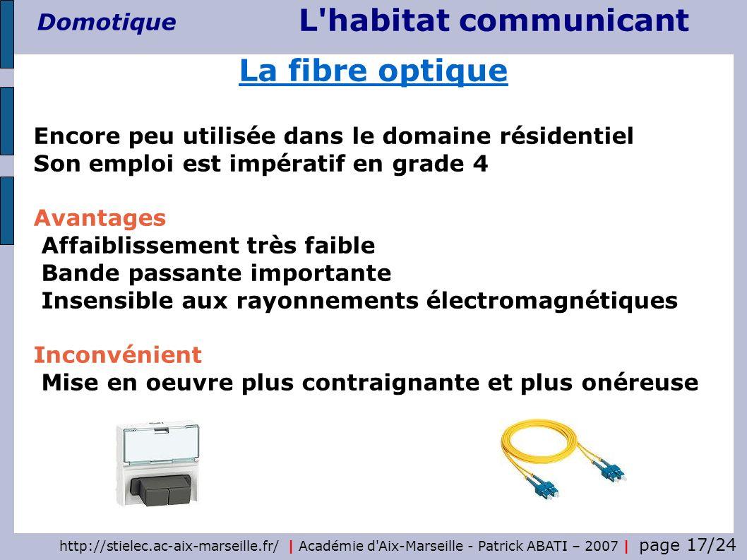 http://stielec.ac-aix-marseille.fr/ | Académie d'Aix-Marseille - Patrick ABATI – 2007 | page 17/24 L'habitat communicant Domotique Encore peu utilisée
