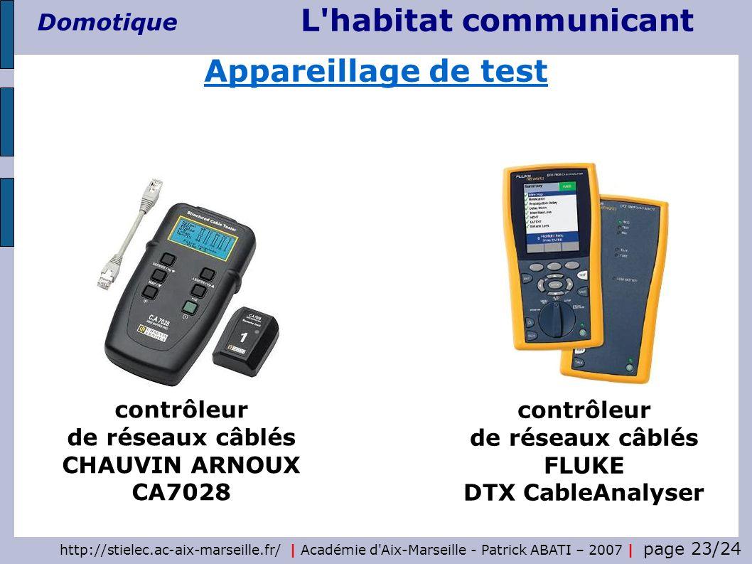 http://stielec.ac-aix-marseille.fr/ | Académie d'Aix-Marseille - Patrick ABATI – 2007 | page 23/24 L'habitat communicant Domotique contrôleur de résea