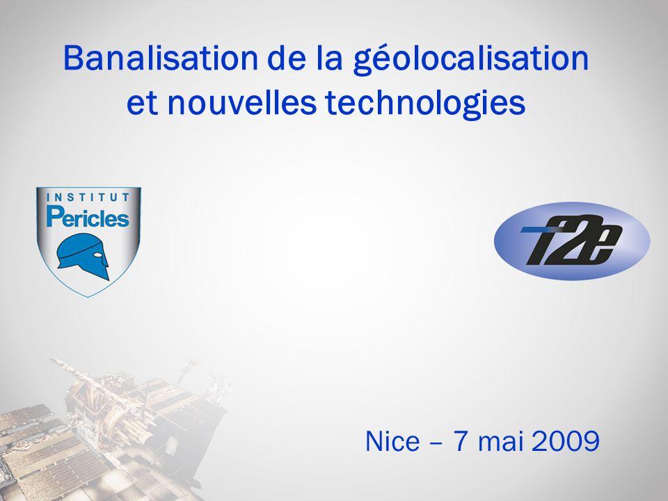 22 Banalisation de la géolocalisation et nouvelles technologies – Nice, 7 mai 2009 - Olivier FOURNIER Récepteur GPS OEM type de 1994 Modèle de grande diffusion Coût faible .