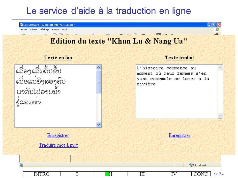 INTROIIIIIIIVCONC p. 24 Le service daide à la traduction en ligne
