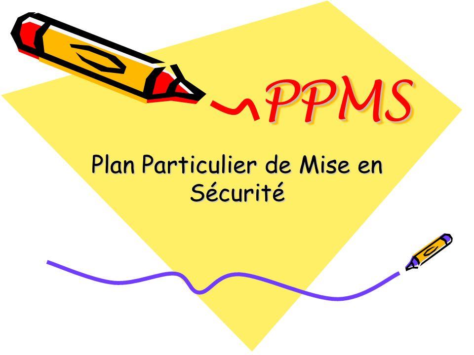 PPMSPPMS 1.Cadre institutionnel 2.Présentation du document à renseigner 3.Comment réaliser le PPMS 4.Communication du PPMS