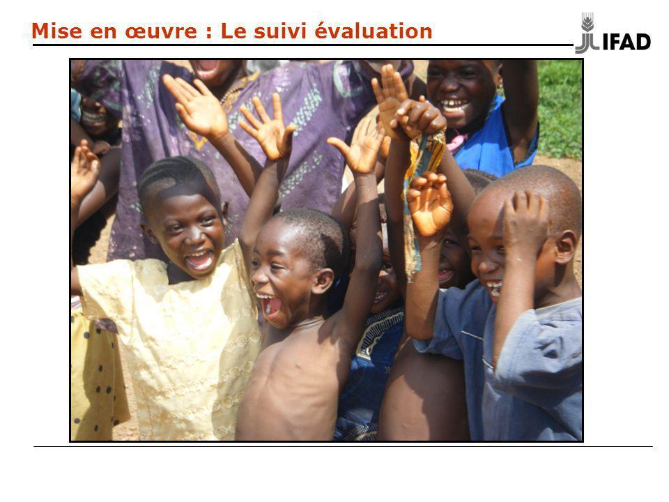 Mise en œuvre : Le suivi évaluation