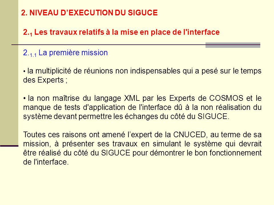 2. 1.1 La première mission la multiplicité de réunions non indispensables qui a pesé sur le temps des Experts ; la non maîtrise du langage XML par les