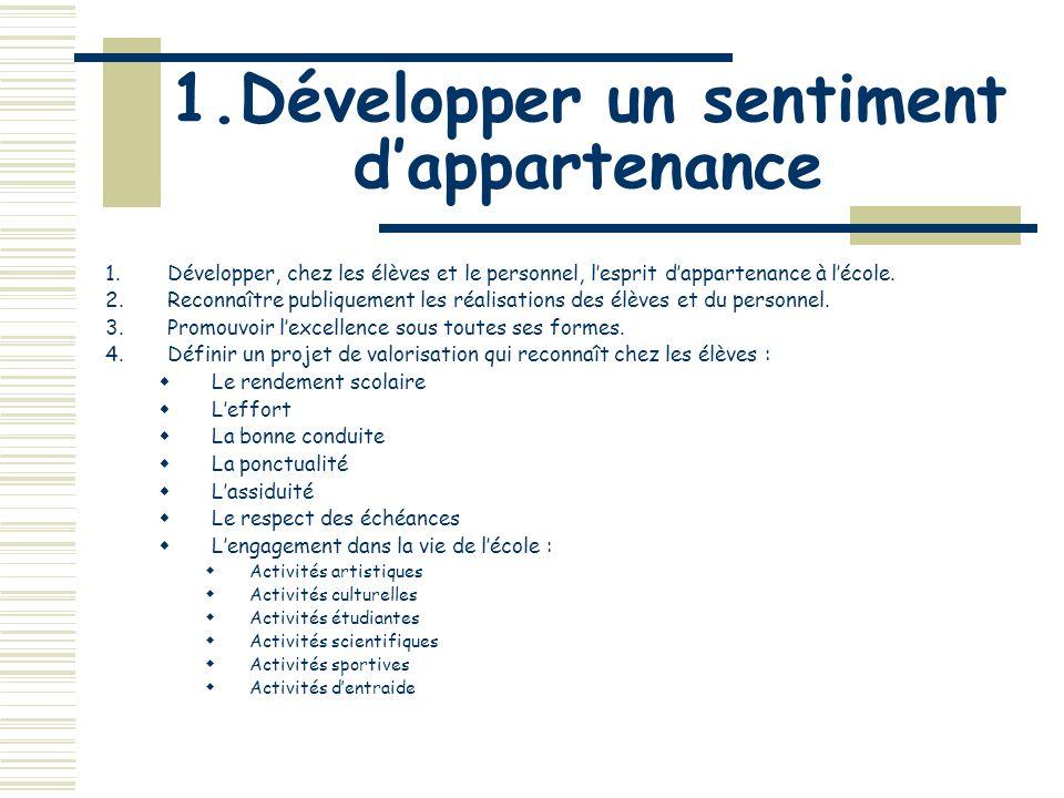 7.Promouvoir la vie pédagogique 5.