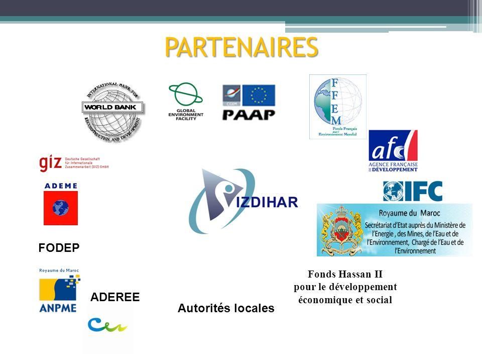 PARTENAIRES Fonds Hassan II pour le développement économique et social ADEREE FODEP Autorités locales