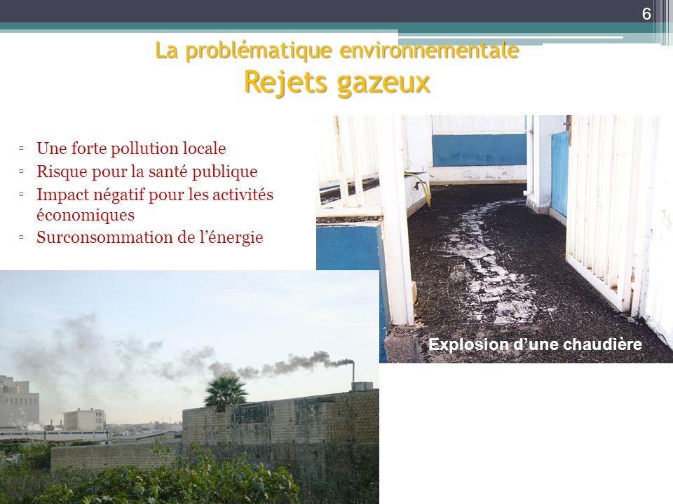 La problématique environnementale Rejets gazeux Déchets solides Explosion dune chaudière Une forte pollution locale Risque pour la santé publique Impa