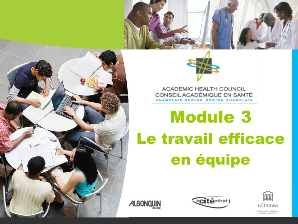 Module 3 Le travail efficace en équipe