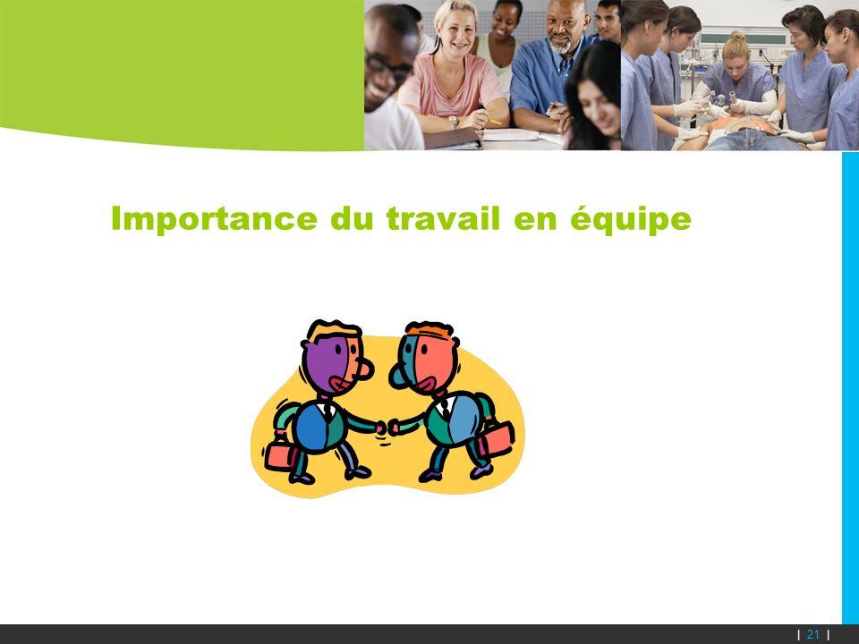 Importance du travail en équipe | 21 |