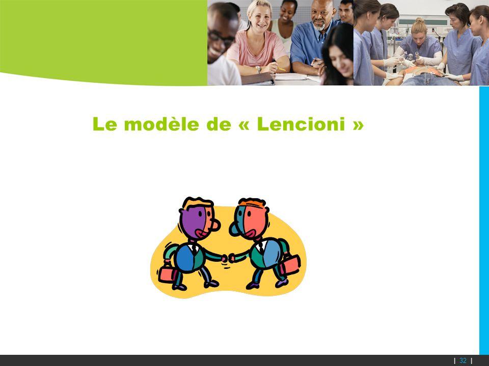 Le modèle de « Lencioni » | 32 |