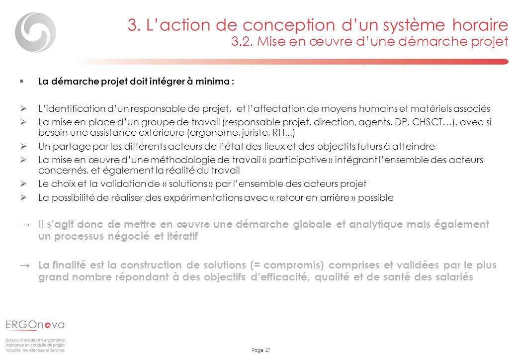 Page 27 La démarche projet doit intégrer à minima : Lidentification dun responsable de projet, et laffectation de moyens humains et matériels associés