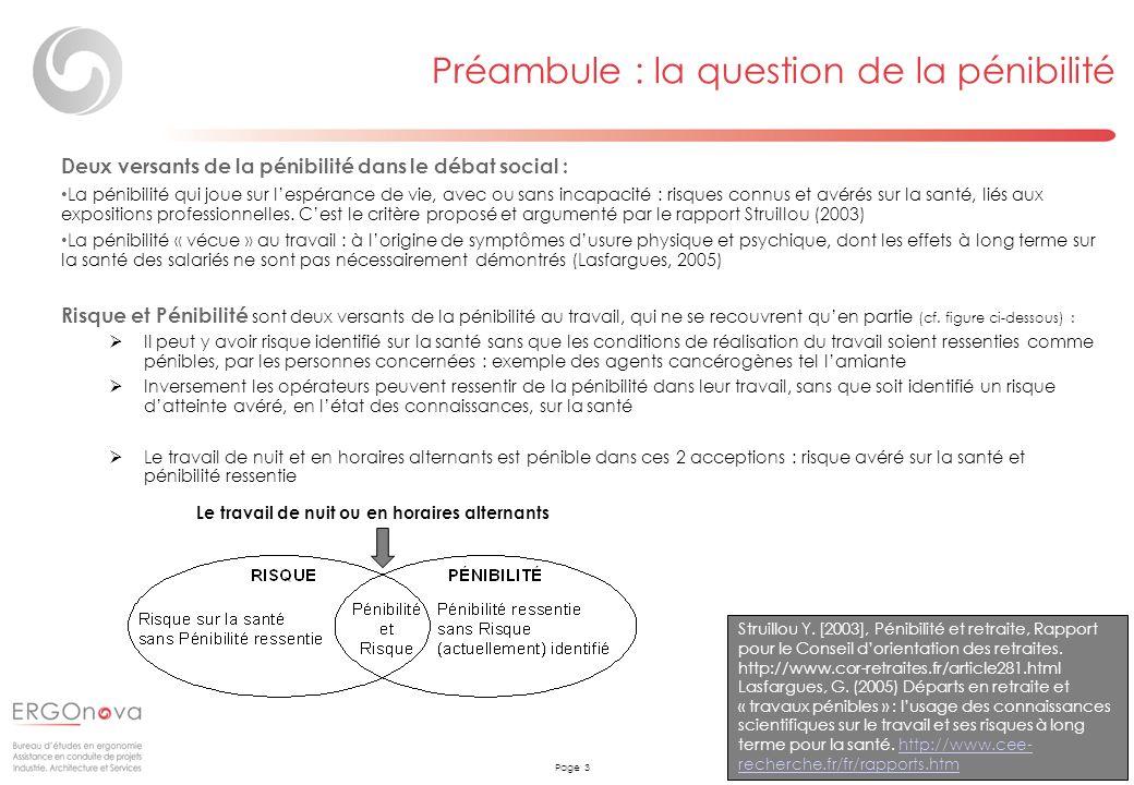 Page 3 Deux versants de la pénibilité dans le débat social : La pénibilité qui joue sur lespérance de vie, avec ou sans incapacité : risques connus et