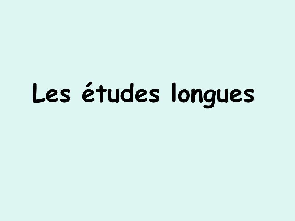 Les études longues