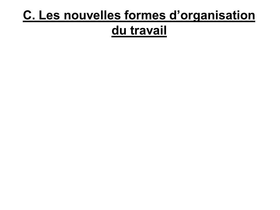 C. Les nouvelles formes dorganisation du travail