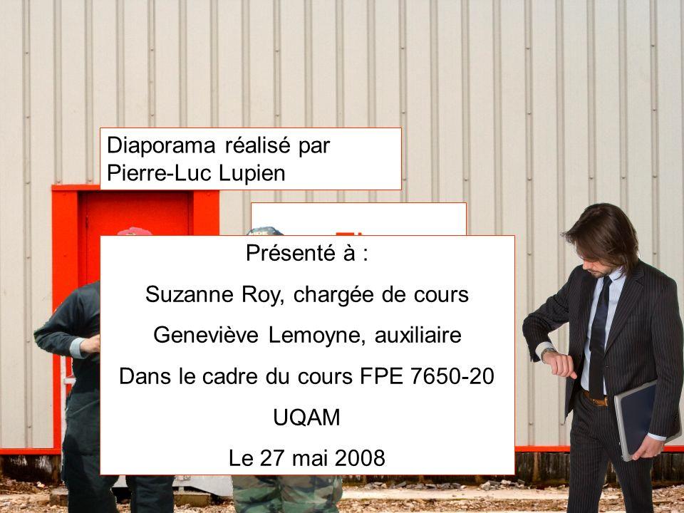 Fin Diaporama réalisé par Pierre-Luc Lupien Présenté à : Suzanne Roy, chargée de cours Geneviève Lemoyne, auxiliaire Dans le cadre du cours FPE 7650-2