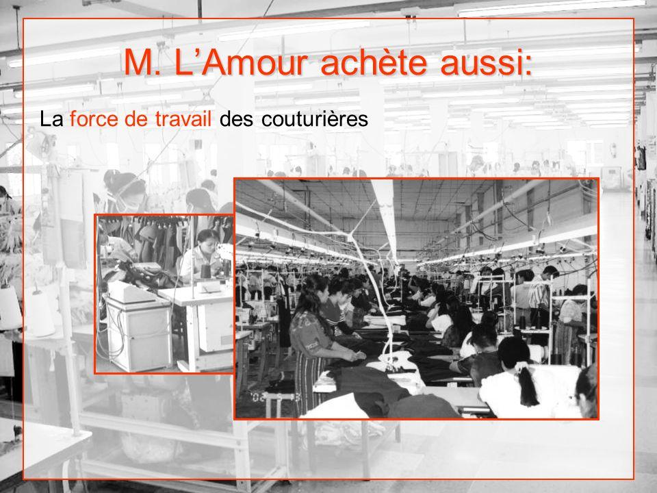 M. LAmour achète aussi: La force de travail des couturières