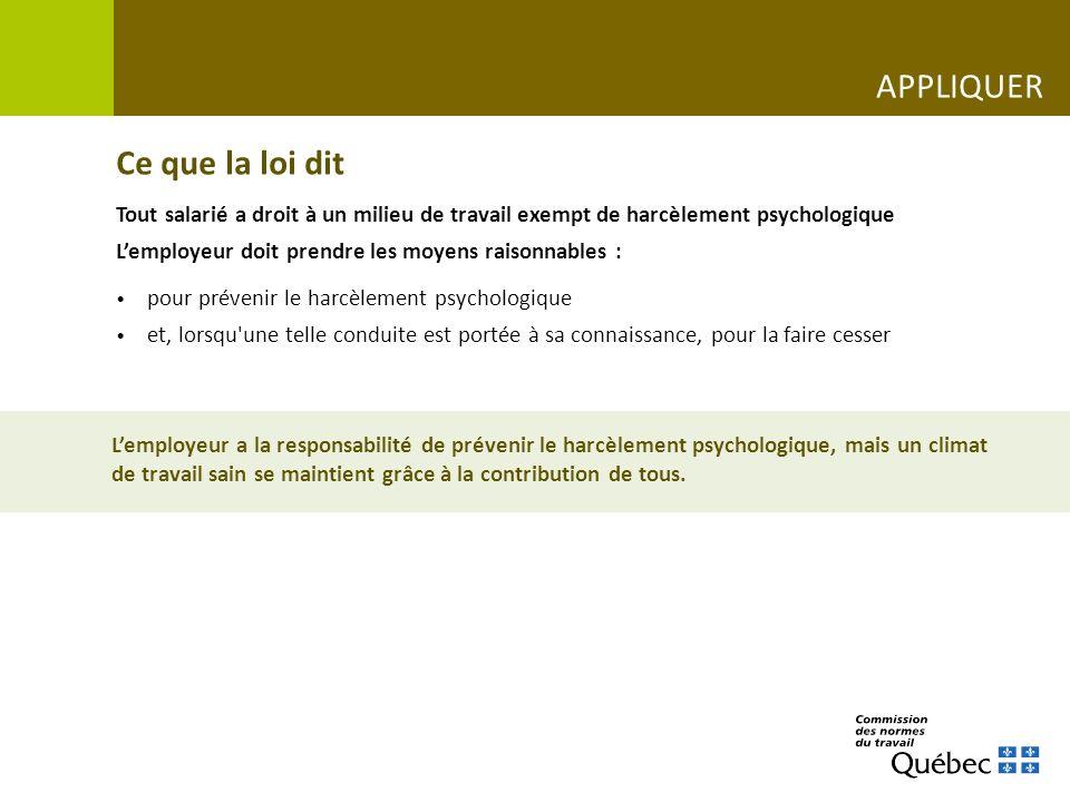Une situation où lemployeur intervient www.cnt.gouv.qc.ca/situations-de-vie-au-travail/le-harcelement-psychologique-ca-se-previent Limprimerie CAPSULE VIDÉO