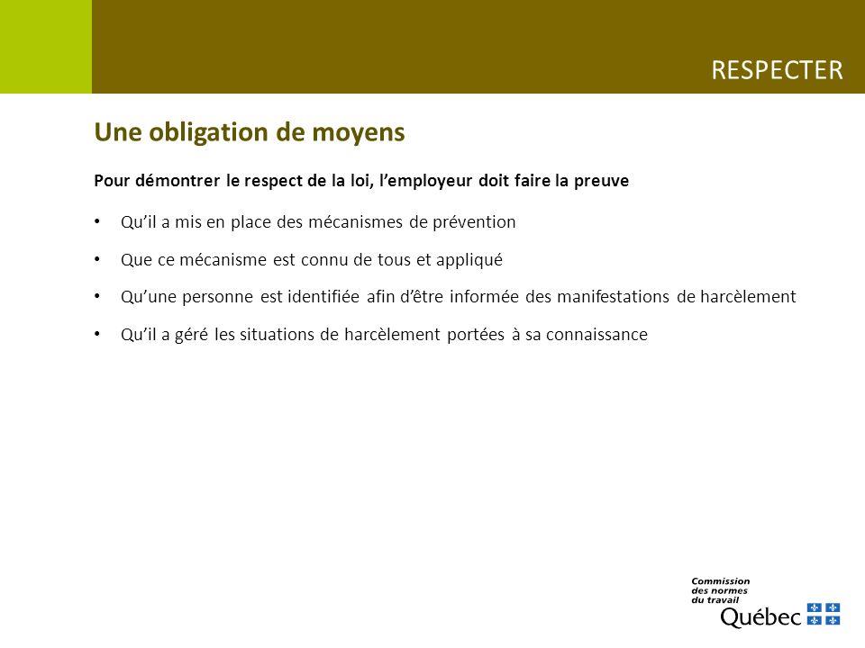 Des outils pour prévenir www.cnt.gouv.qc.ca/fileadmin/campagnes-information/Campagne-Ici-on-emploi-le-respect/Declaration_de_l_employeur.pdf www.cnt.gouv.qc.ca/fileadmin/pdf/canevas_politique_grande_entreprise.pdf SOUTILLER Déclaration dengagement de lemployeurModèle de politique de prévention
