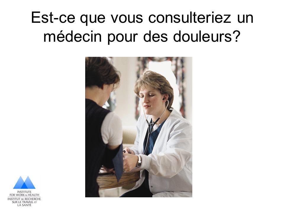 Est-ce que vous consulteriez un médecin pour des douleurs?
