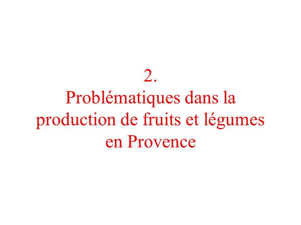 2. Problématiques dans la production de fruits et légumes en Provence