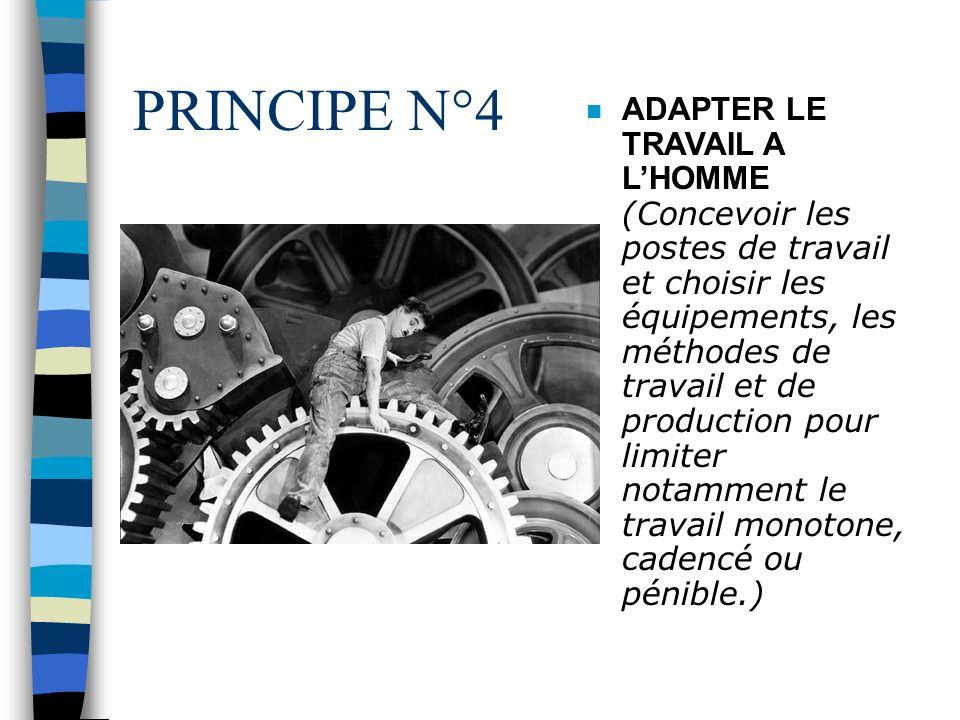 PRINCIPE N°3 n COMBATTRE LES RISQUES A LA SOURCE ( Intégrer la prévention dès la conception des équipements, des modes opératoires et des lieux de tra