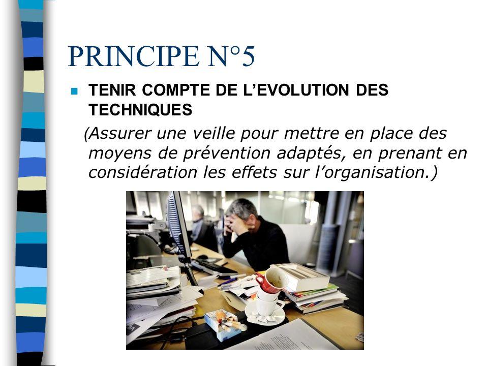 PRINCIPE N°4 ADAPTER LE TRAVAIL A LHOMME (Concevoir les postes de travail et choisir les équipements, les méthodes de travail et de production pour li