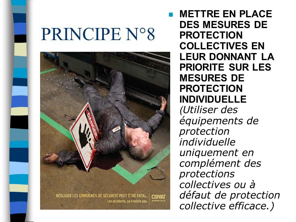 PRINCIPE N°7 PLANIFIER LA PREVENTION ( Intégrer dans un ensemble cohérent la technique, lorganisation du travail, les conditions de travail, les relat
