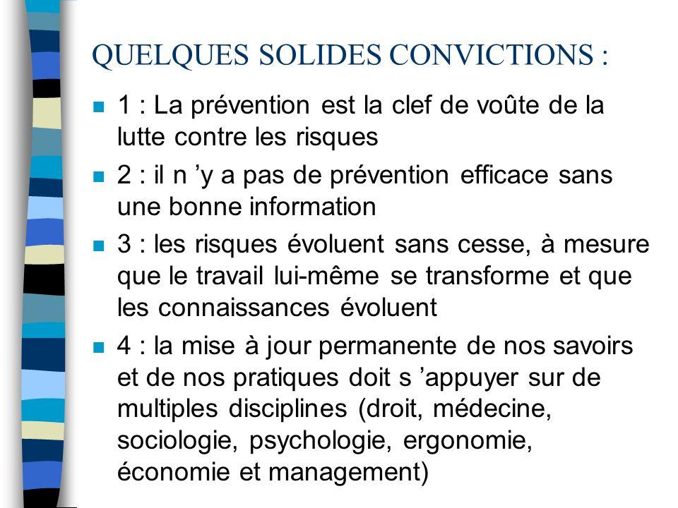 Une démarche de prévention, cest : n mettre en place un ensemble de mesures pour PREVENIR un danger, un risque, et pour lEMPECHER de survenir n un équ