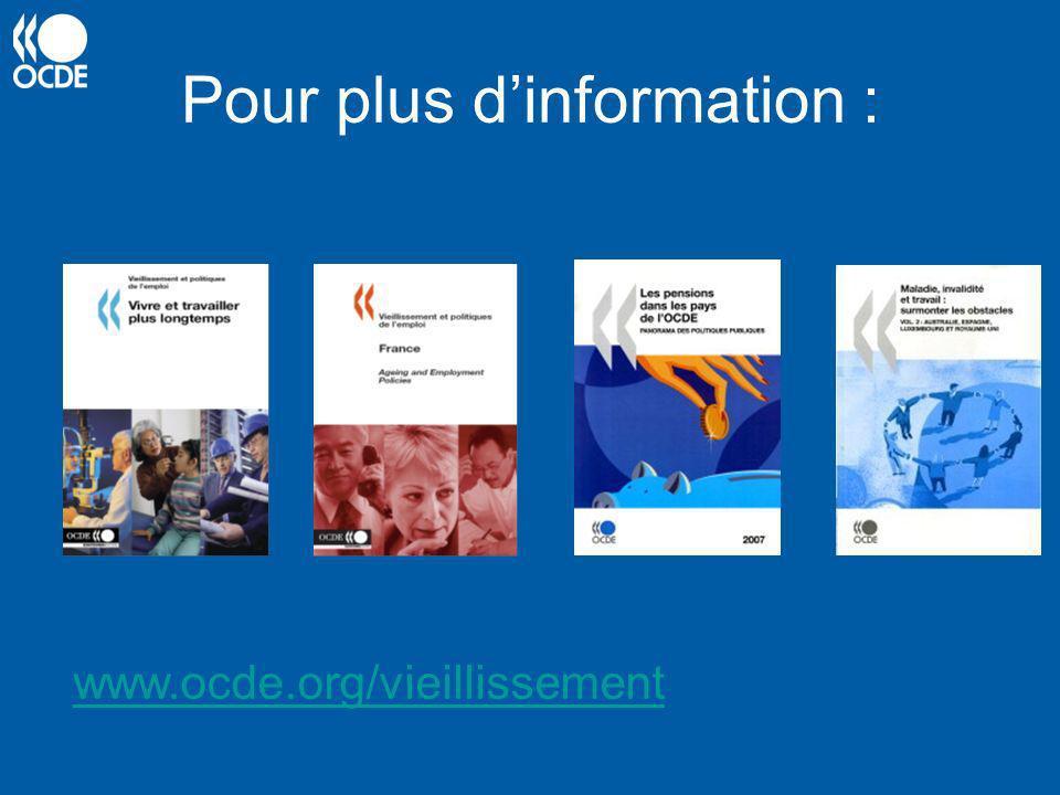 Pour plus dinformation : www.ocde.org/vieillissement