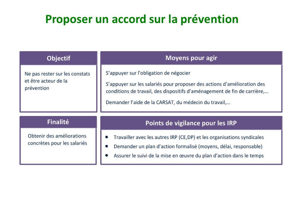 Proposer un accord sur la prévention page 44